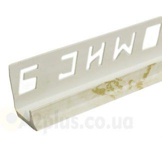 Профиль под плитку внутренний белый камень 7 8 9 мм, 2,5 м   низкая цена в Киеве   интернет-магазин А2+