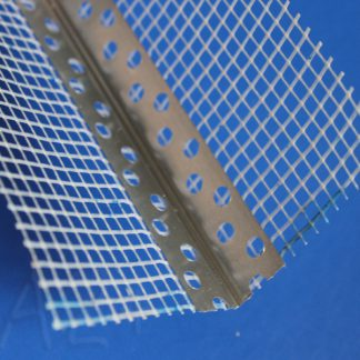 Уголок перфорированный ЭКО с сеткой 2,5 м алюминий - фото - А2+