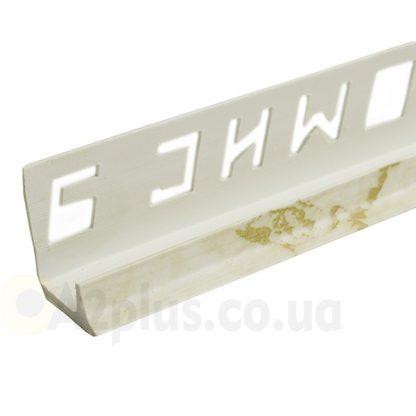 Профиль под плитку внутренний белый камень 7 8 9 мм, 2,5 м | низкая цена в Киеве | интернет-магазин А2+