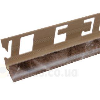 Профиль для керамической плитки внутренний мрамор коричневый 7 8 9 мм, 2,5 м | низкая цена в Киеве | интернет-магазин А2+
