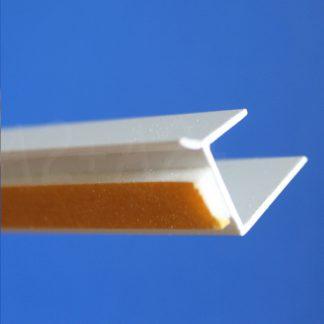 Профиль оконного примыканиябелый 12,5 мм2,5 м 12,5 мм ◼ фото