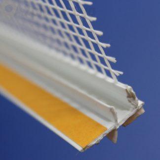 Профиль оконного примыканиябелый 6 мм с сеткой6 мм ◼ фото -1