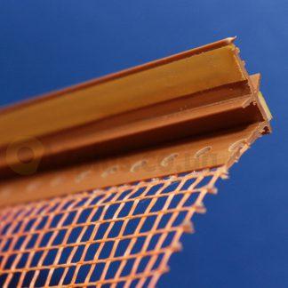 Профиль оконного примыкания золотой дуб6 мм 2,5 м с сеткой 6 мм ◼ фото