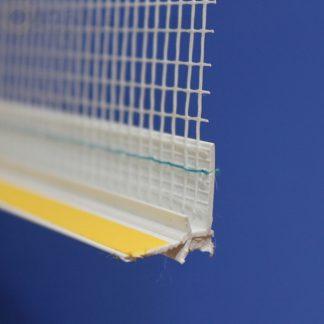 Профиль оконного примыканиябелый 6 мм c пришитой сеткой6 мм ◼ фото