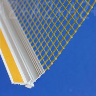 Профиль оконного примыкания белый 9 мм2,5 м с сеткой 9 мм ◼ фото