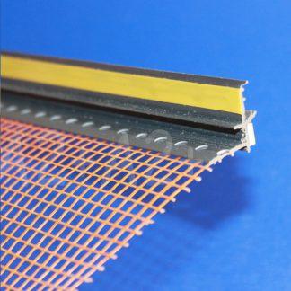 Профиль оконного примыкания графит6 мм 2,5 м с сеткой 6 мм ◼ фото