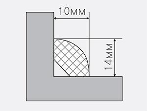 Штапик универсальный 10х10 мм, 2,75 м| низкая цена в Киеве | интернет-магазин А2+