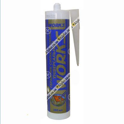 Герметик универсальный силиконовый белый , 280 мл   низкая цена в Киеве   интернет-магазин А2+